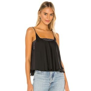 NWT Free People Turn it On Black Cami Sequin Top